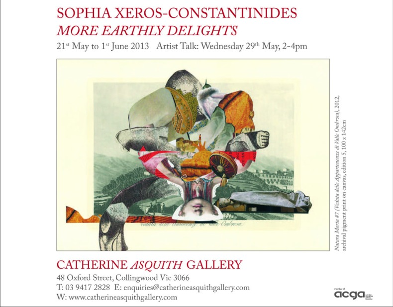 Sophie Xeros INVITE More Earthly Delights at Catherine Asquith 21stMay to 1st June2013